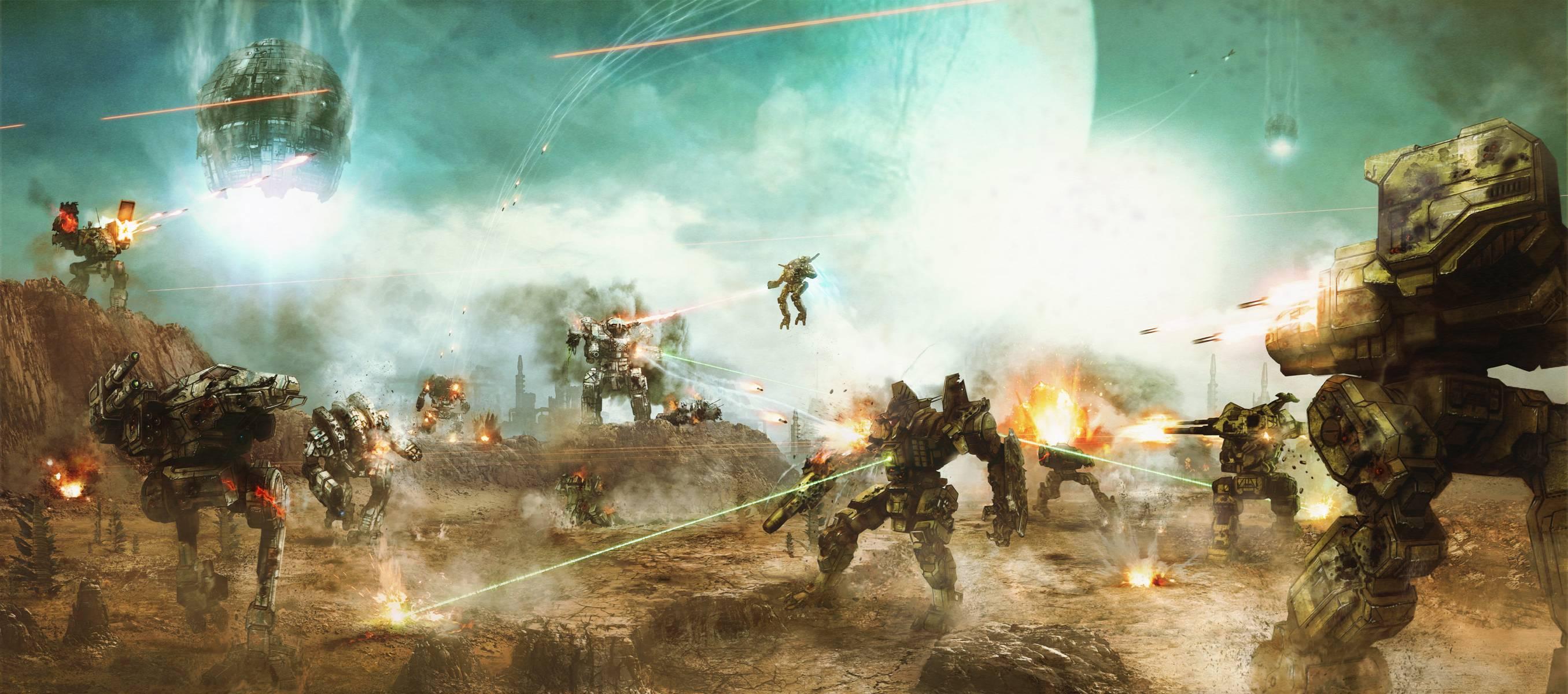 Mechwarrior wallpapers wallpaper cave - Battlefield screensaver ...