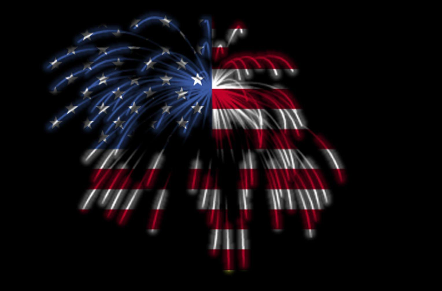 Happy 4th of July! The American Flag in Fireworks | photo page ...