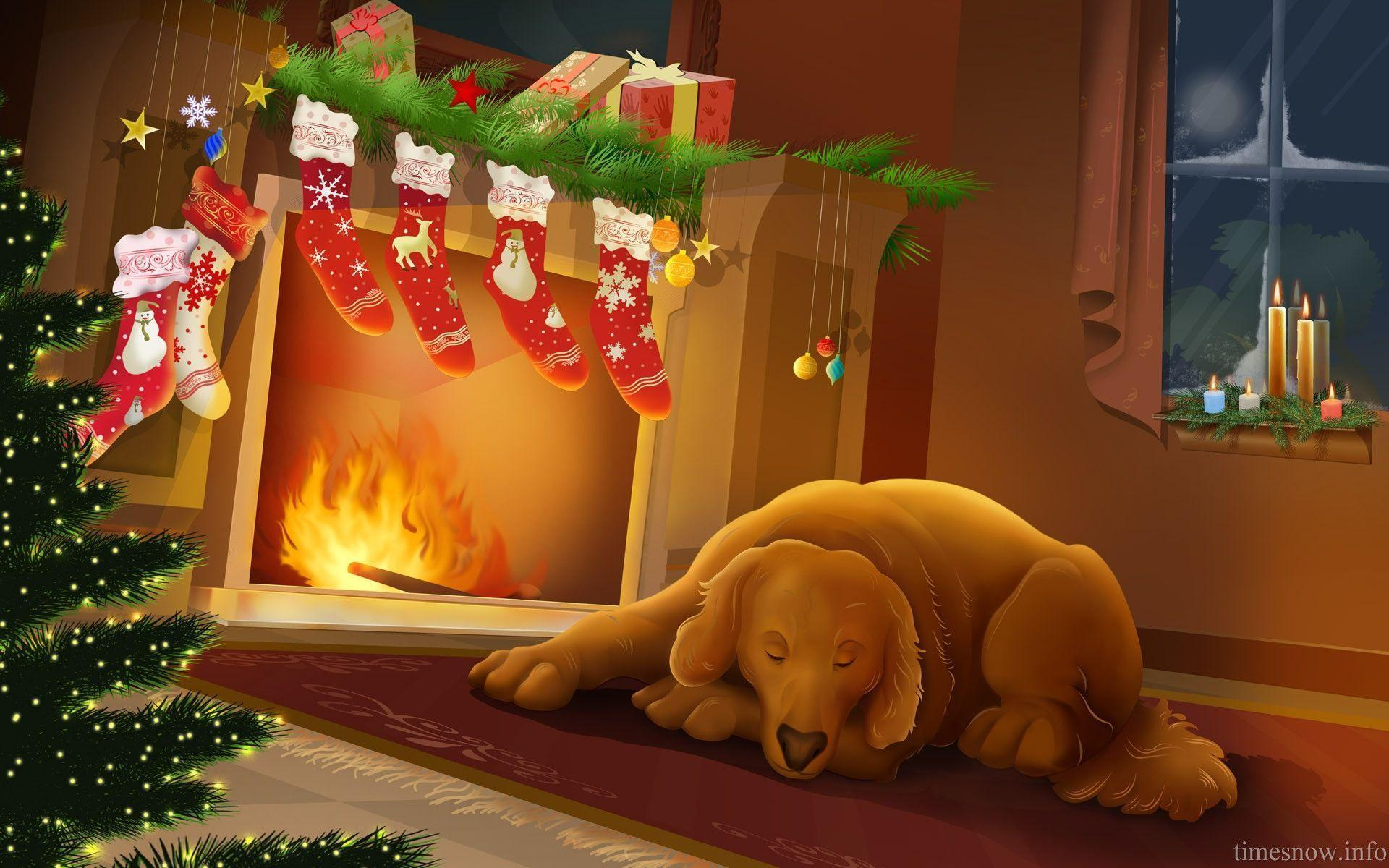 christmas fireplace wallpapers wallpaper cave