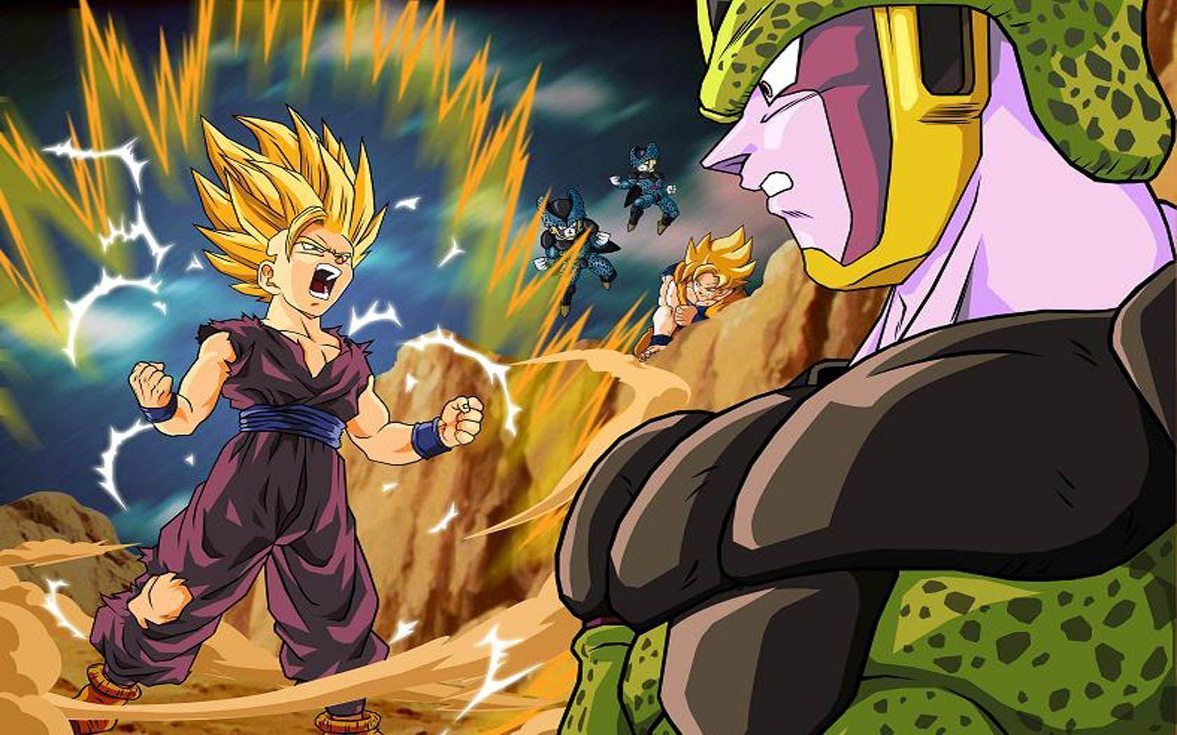 Download Cell Anime Son Gohan Dragon Ball Wallpapers