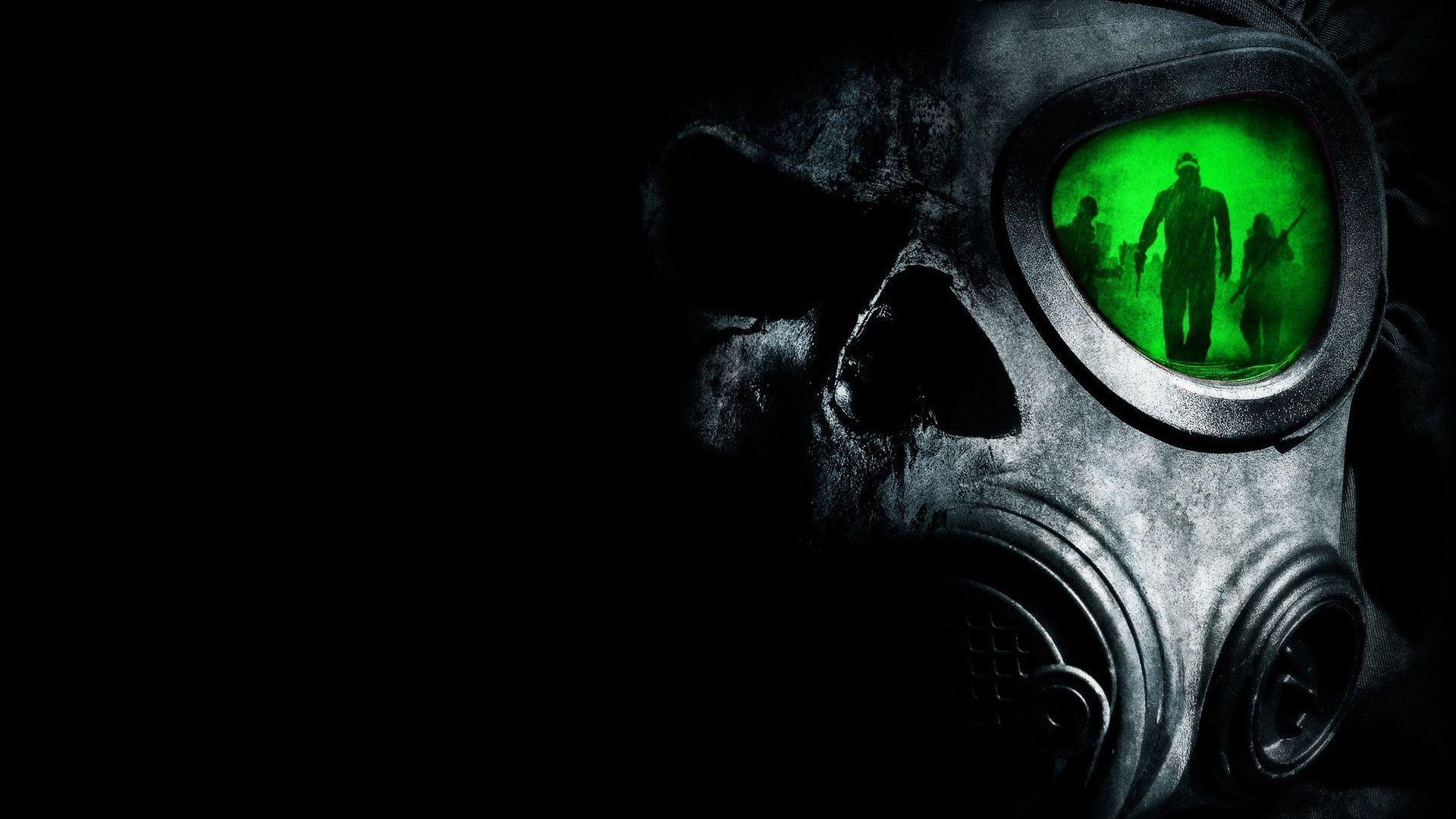 Wallpapers For > Black And Green Skull Wallpapers