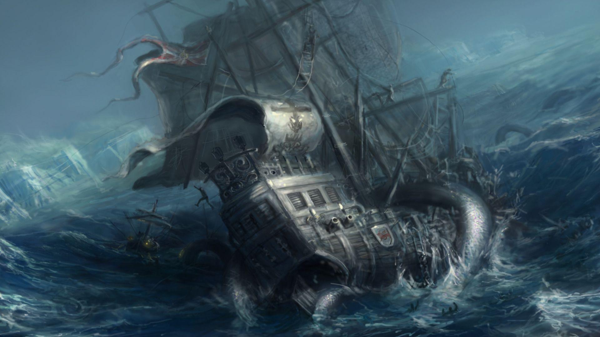 poseidon vs the kraken - photo #34