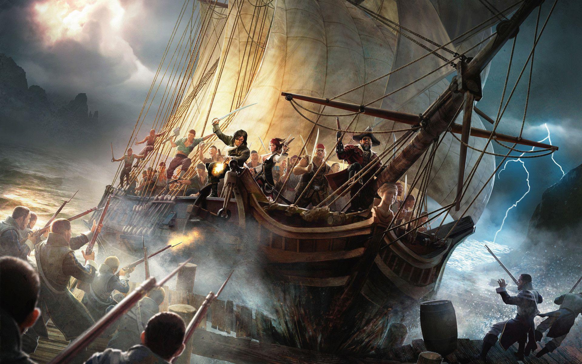 Pirate ship iphone wallpaper - photo#53