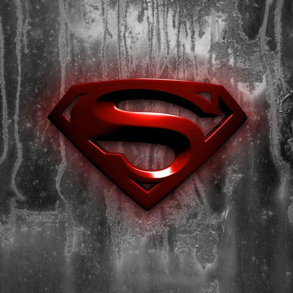 Wallpapers For > Black And Red Superman Logo Wallpaper