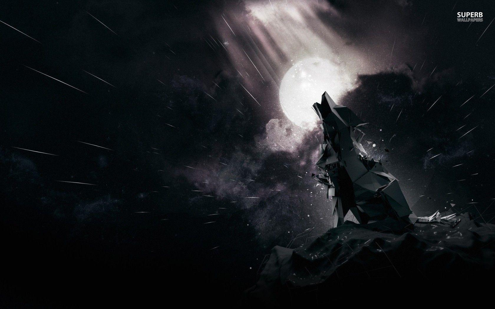 black wolf howling wallpaper - photo #3