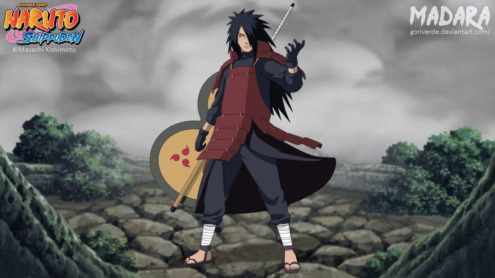 Naruto Shippuden Uchiha Madara HD desktop wallpaper High