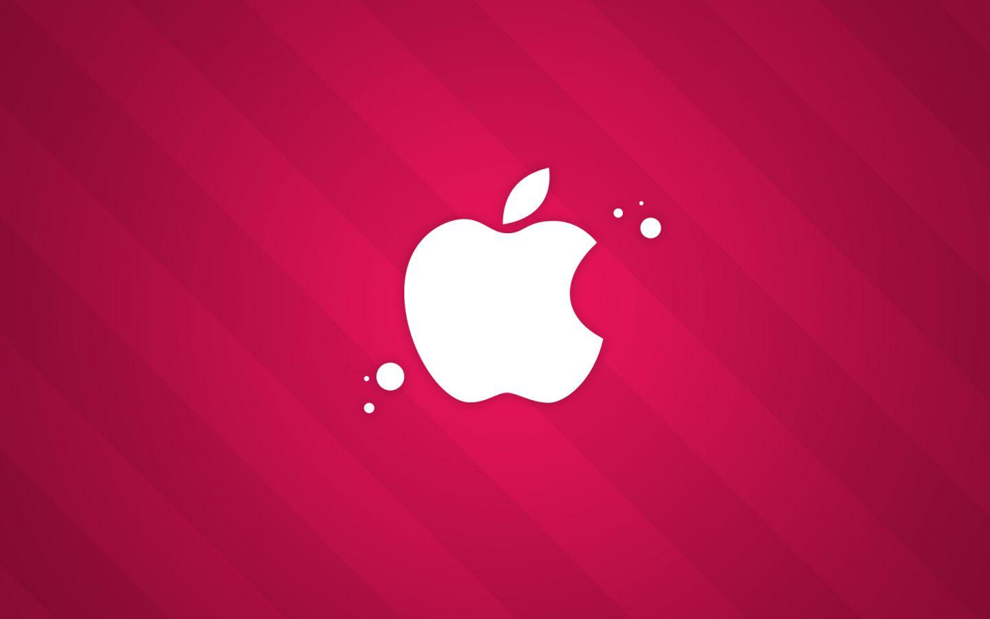 Red apple wallpapers [ apple logo ] mac