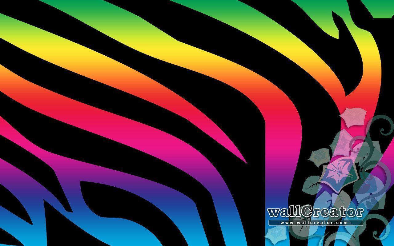 Awesome Rainbow Backgrounds - Wallpaper Cave Multi Colored Zebra Print Wallpapers