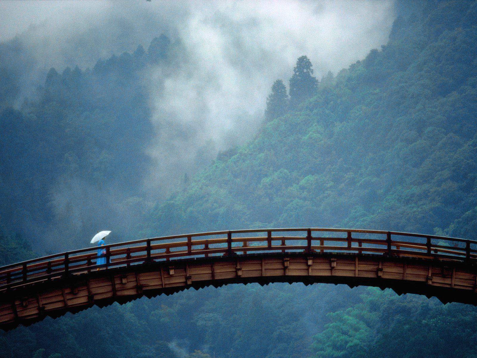 old japanese bridge free desktop background free wallpaper image