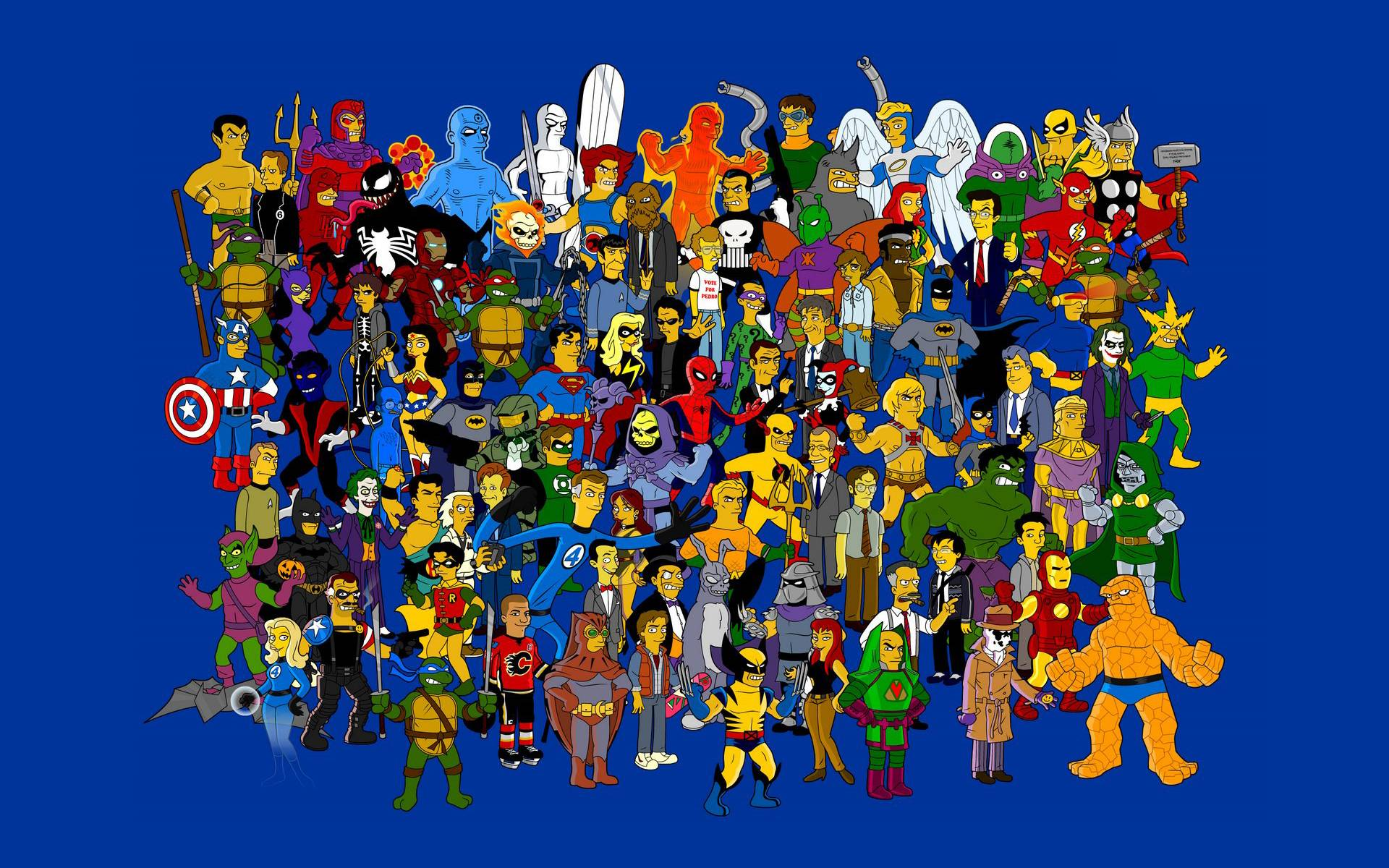 Tv Cartoon Characters Wallpaper