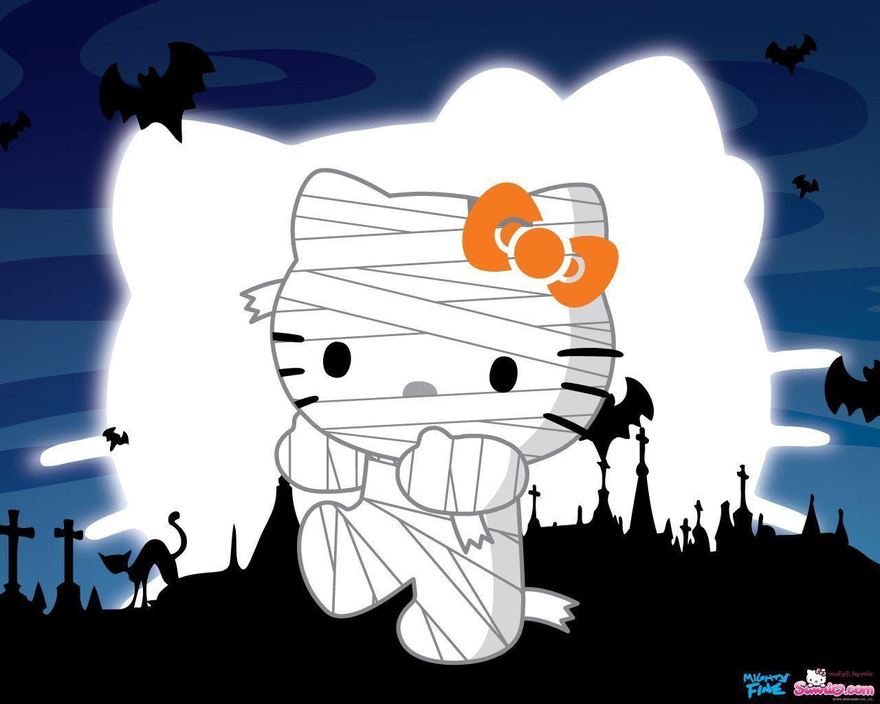 Look - Kitty Hello happy halloween wallpaper pictures video