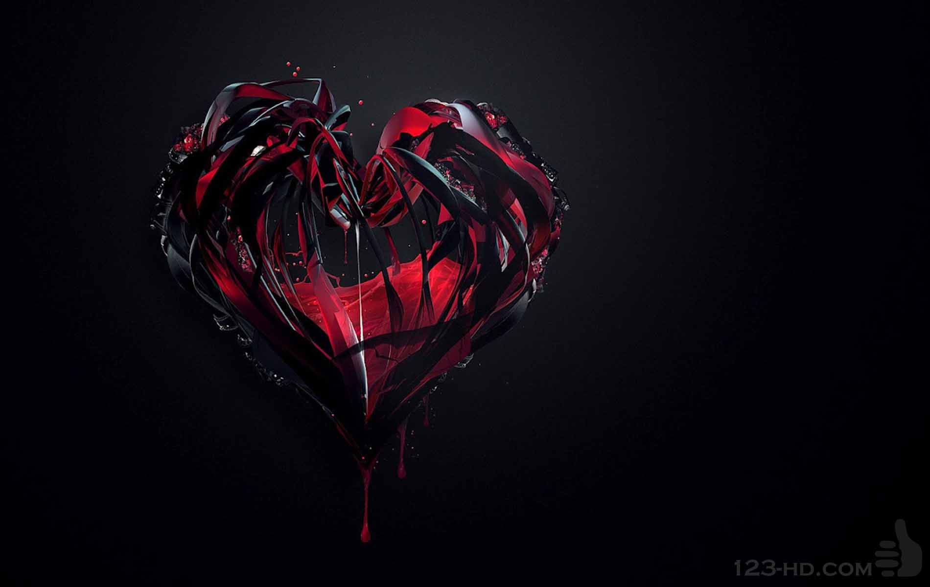 Black & Red Heart