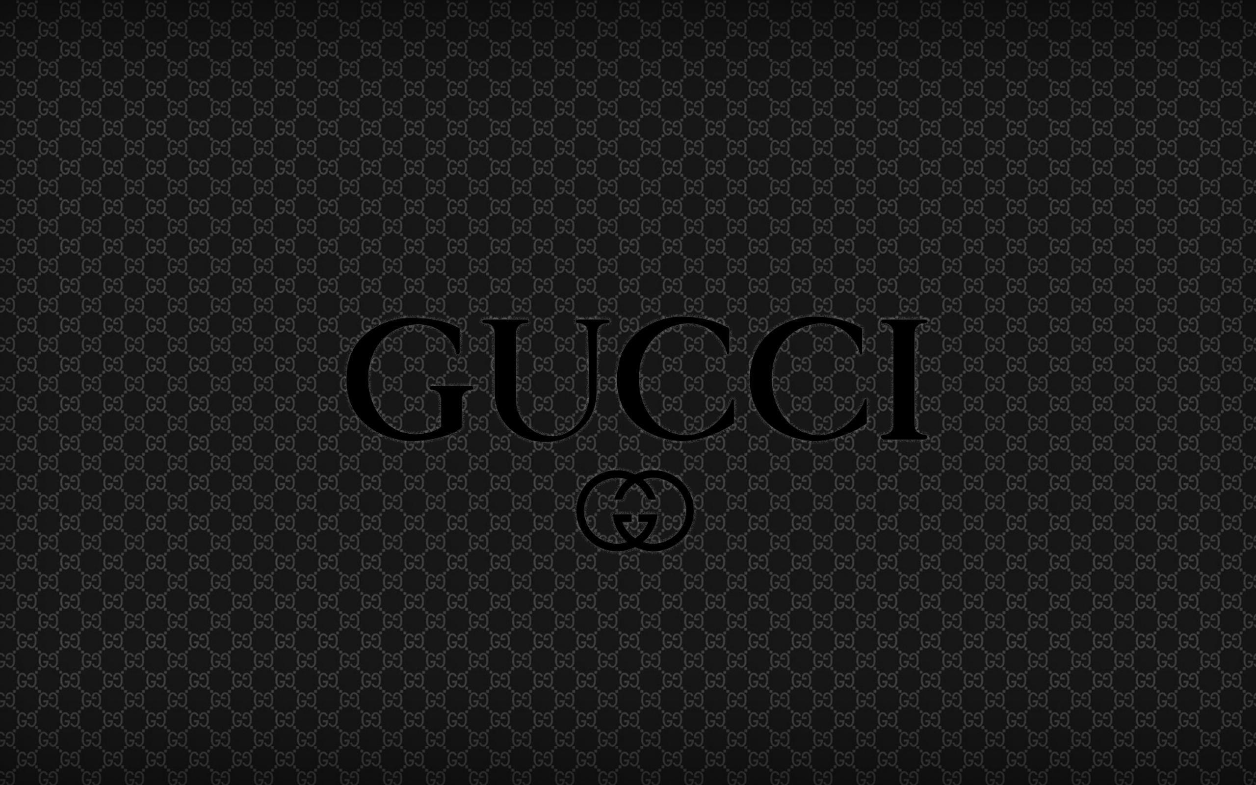 Gucci Logo Wallpapers - Wallpaper Cave  Black