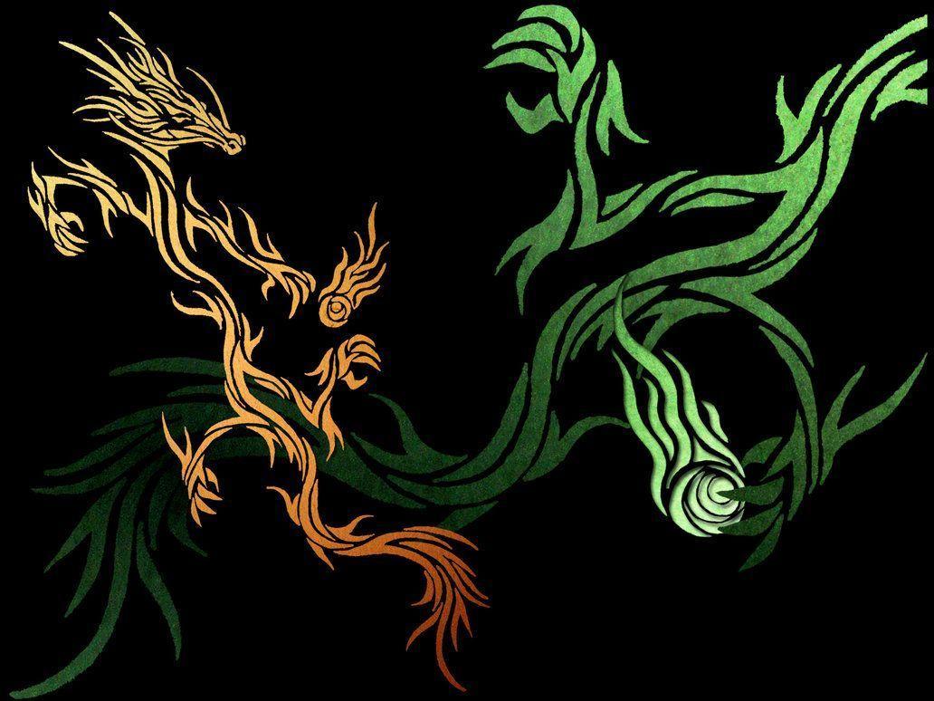 tribal dragon wallpaper by - photo #1