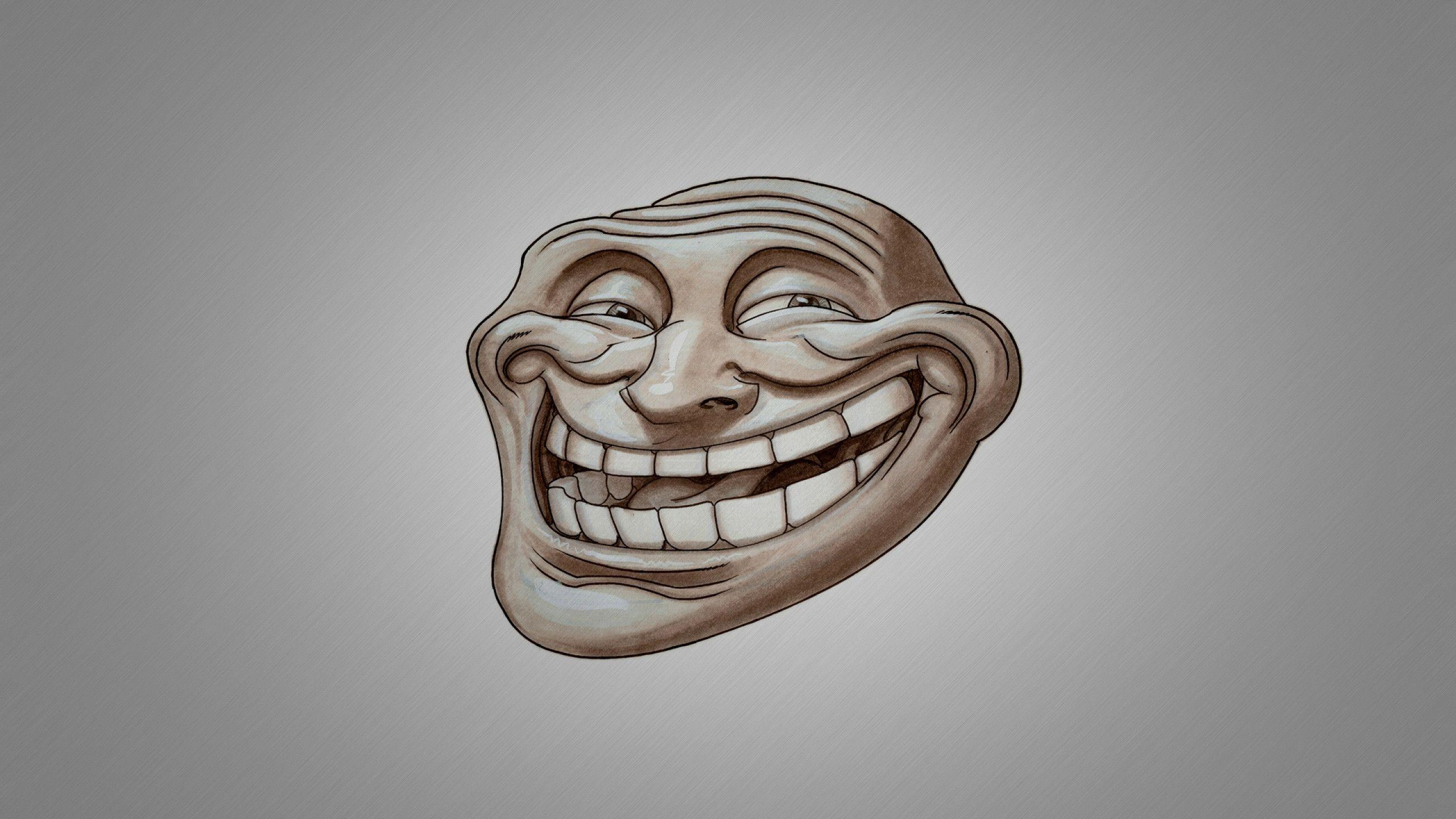 Troll face wallpapers wallpaper cave download wallpaper 2560x1440 troll face smile mac imac 27 hd voltagebd Gallery