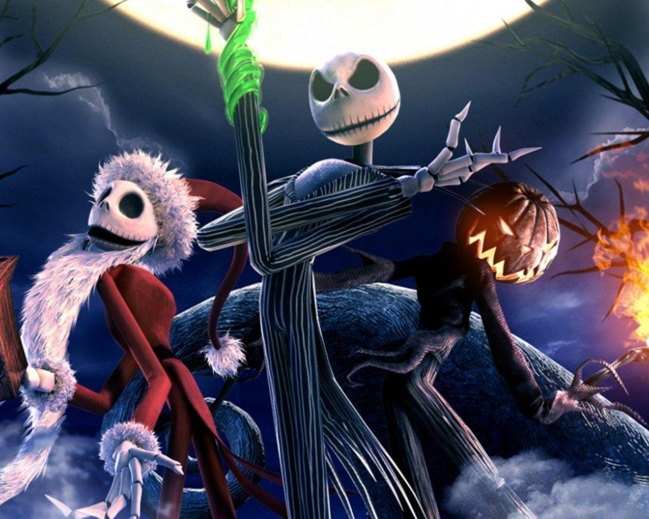 1280x1024 The Nightmare Before Christmas Skeletons desktop PC and
