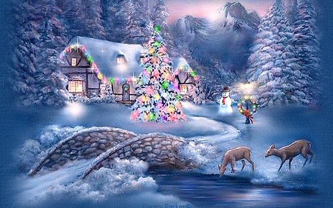 Christmas scenery wallpapers wallpaper cave for Christmas landscape images