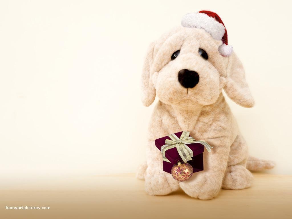 christmas puppy wallpaper - photo #23