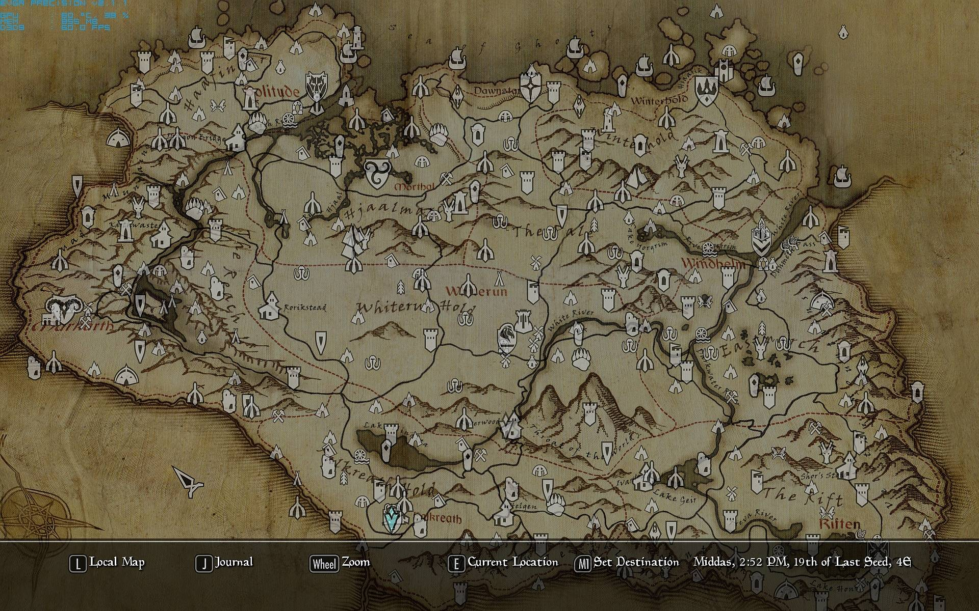 Paper Map With Height At Skyrim Nexus