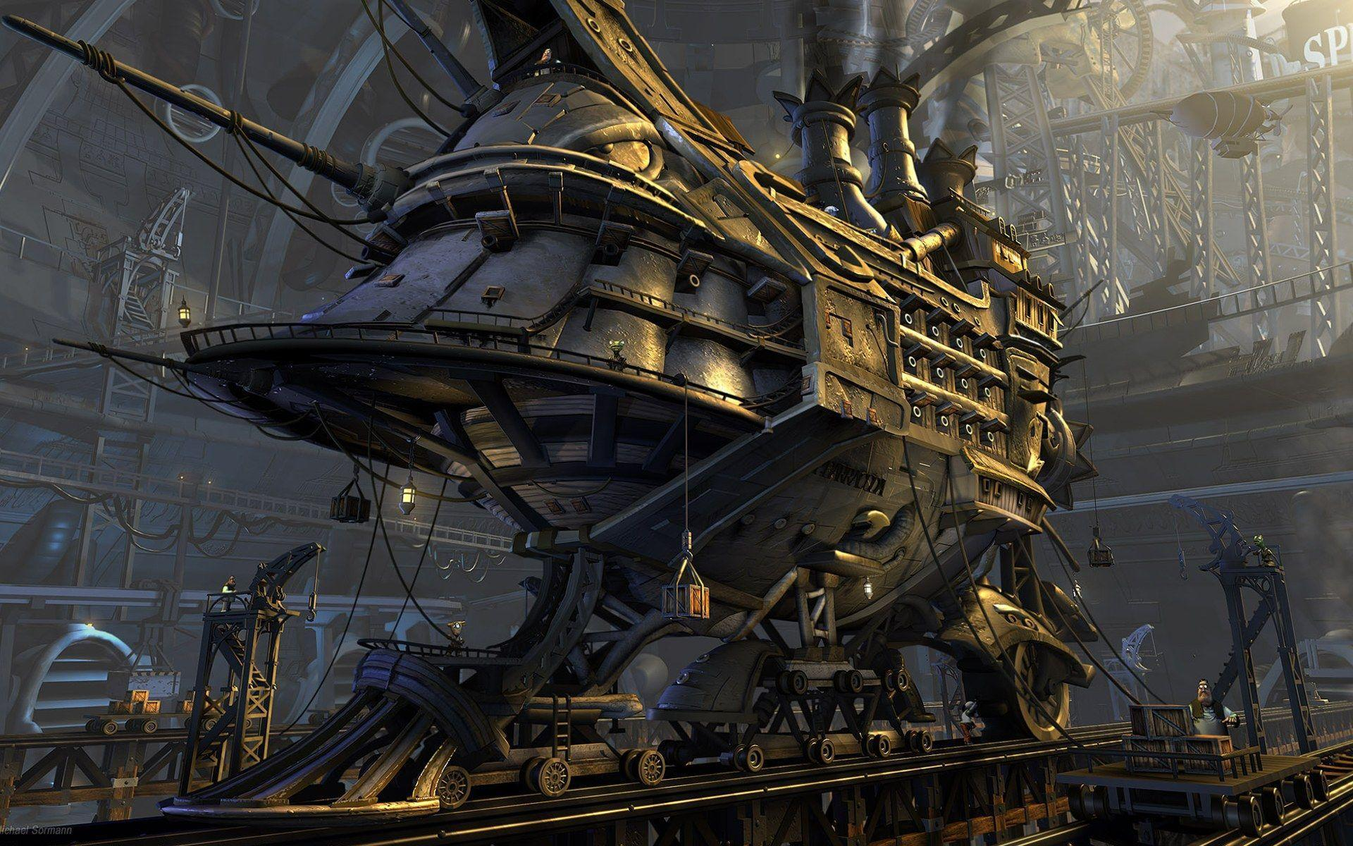 Steampunk, Background, Wallpapers