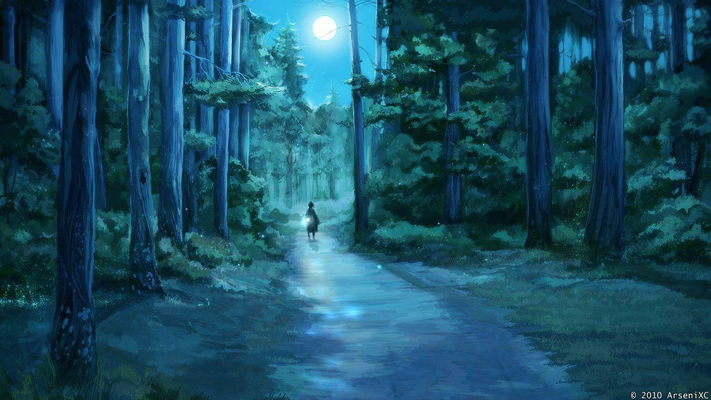 Wallpapers For > Anime Background Art Forest