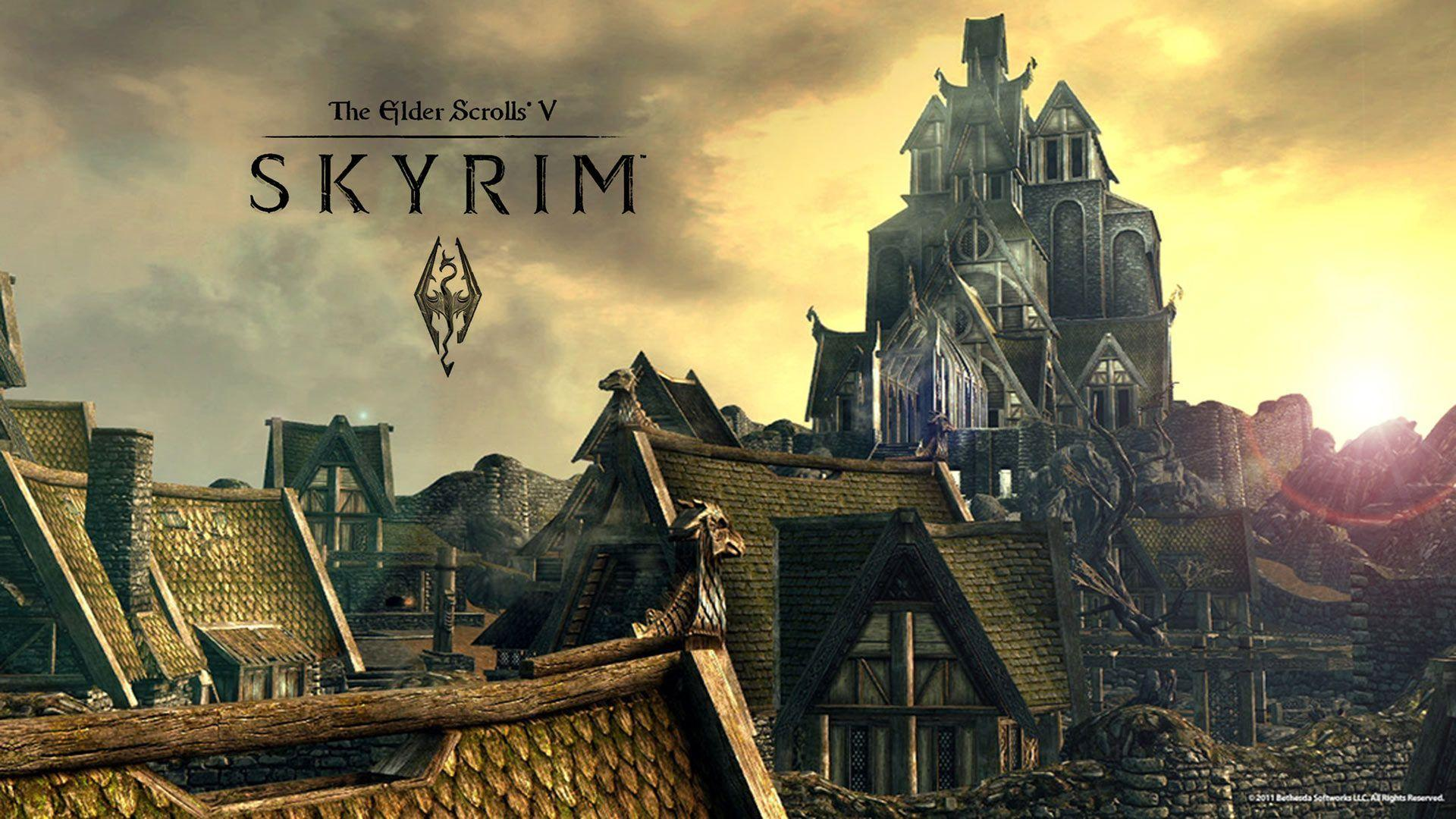 skyrim hd wallpapers 1366x768 - photo #39