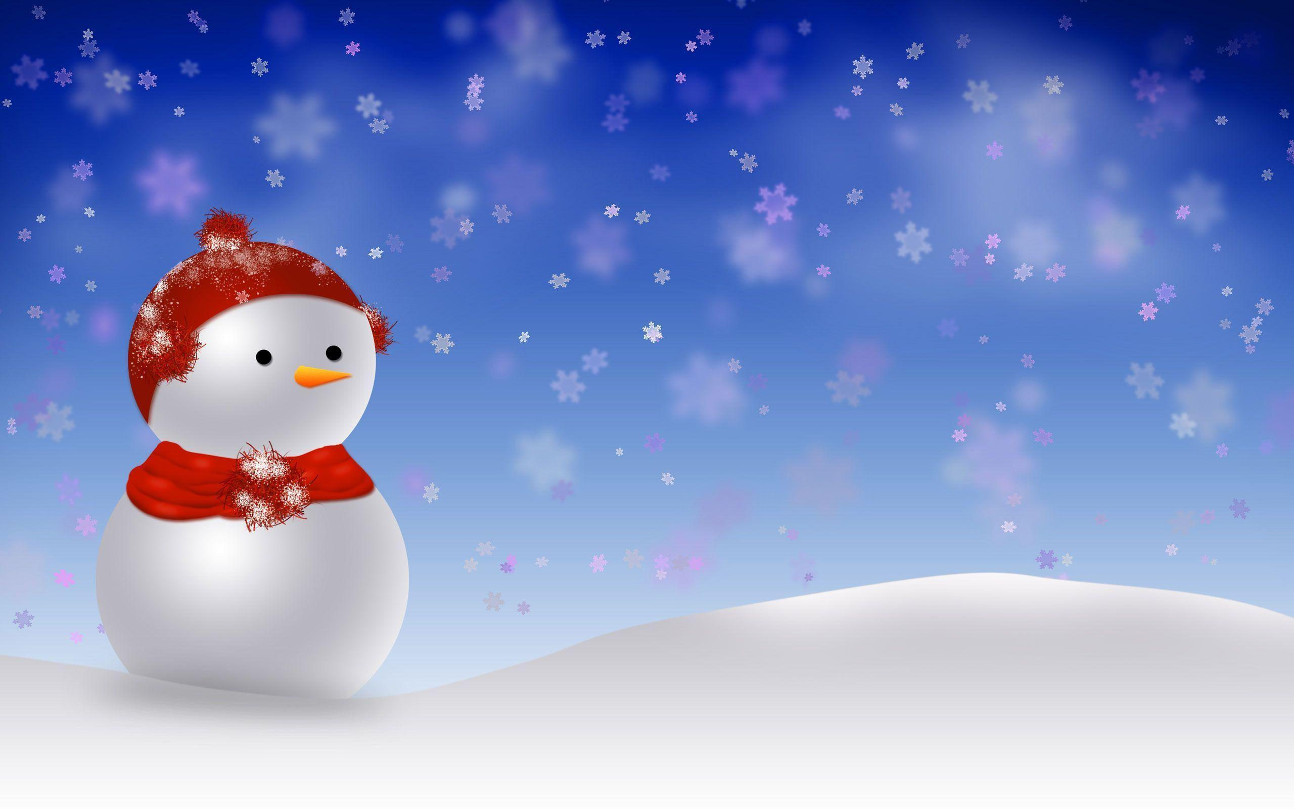 Christmas Backgrounds Snowman Wallpapers