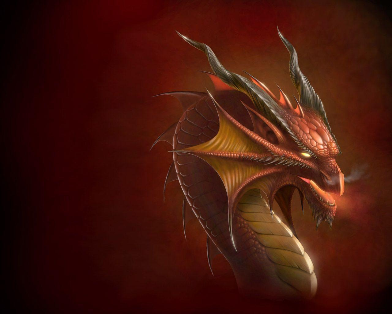 Dragon head Wallpapers by Deligaris
