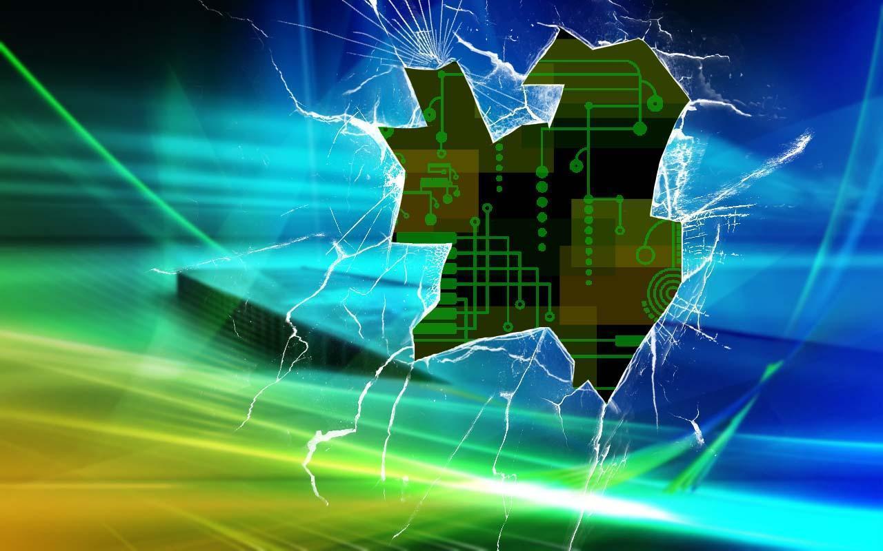 Broken Laptop Screen Wallpaper: Broken Windows Backgrounds