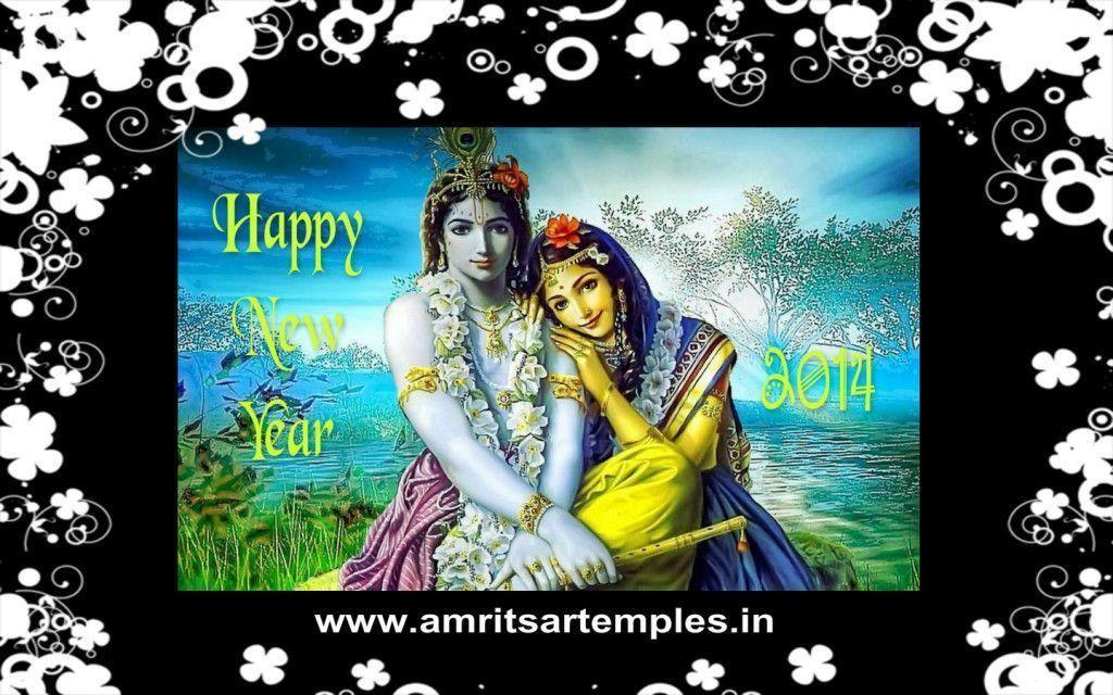 Happy New Year Krishna Image 62