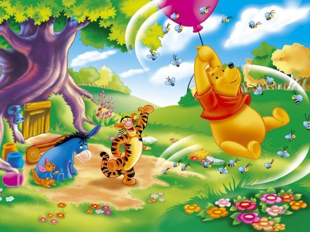 12 Winnie The Pooh 1024x768 Easter Cards Wallpaper