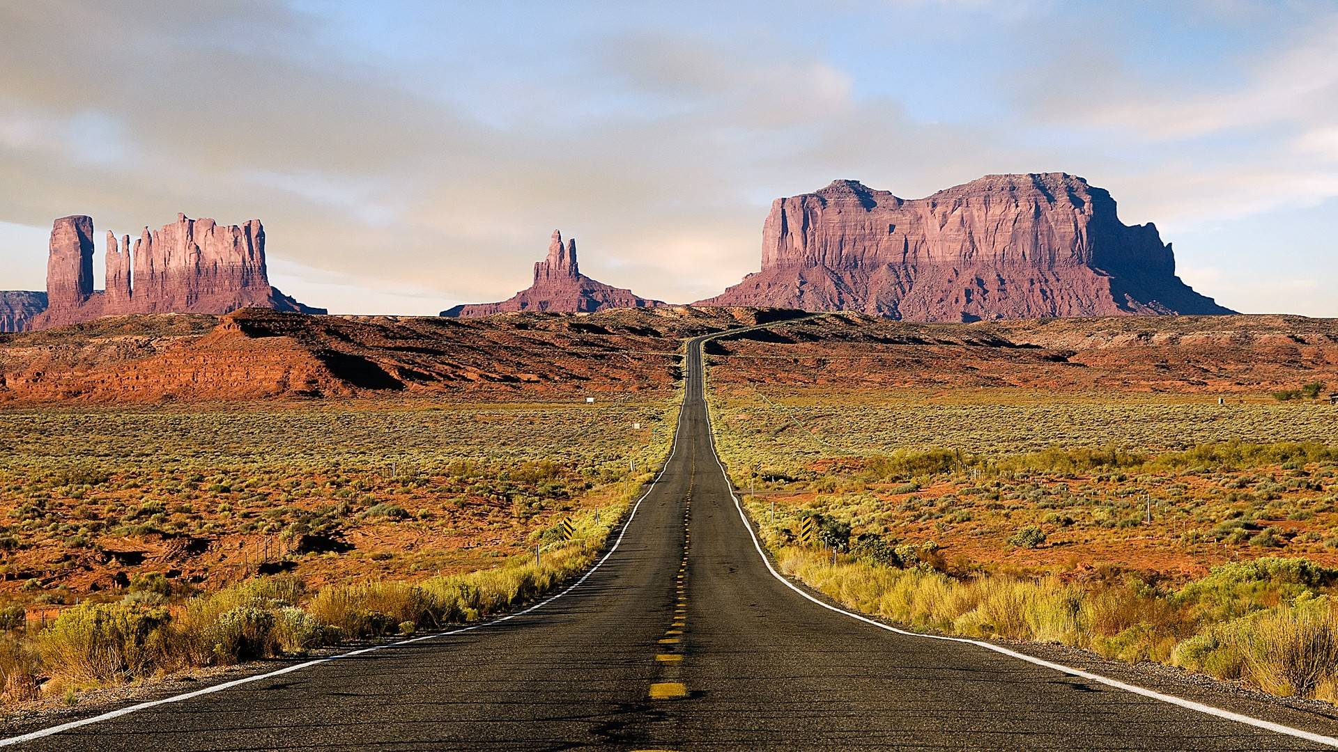 Monument Valley Road Wallpaper, iPhone Wallpaper, Facebook Cover