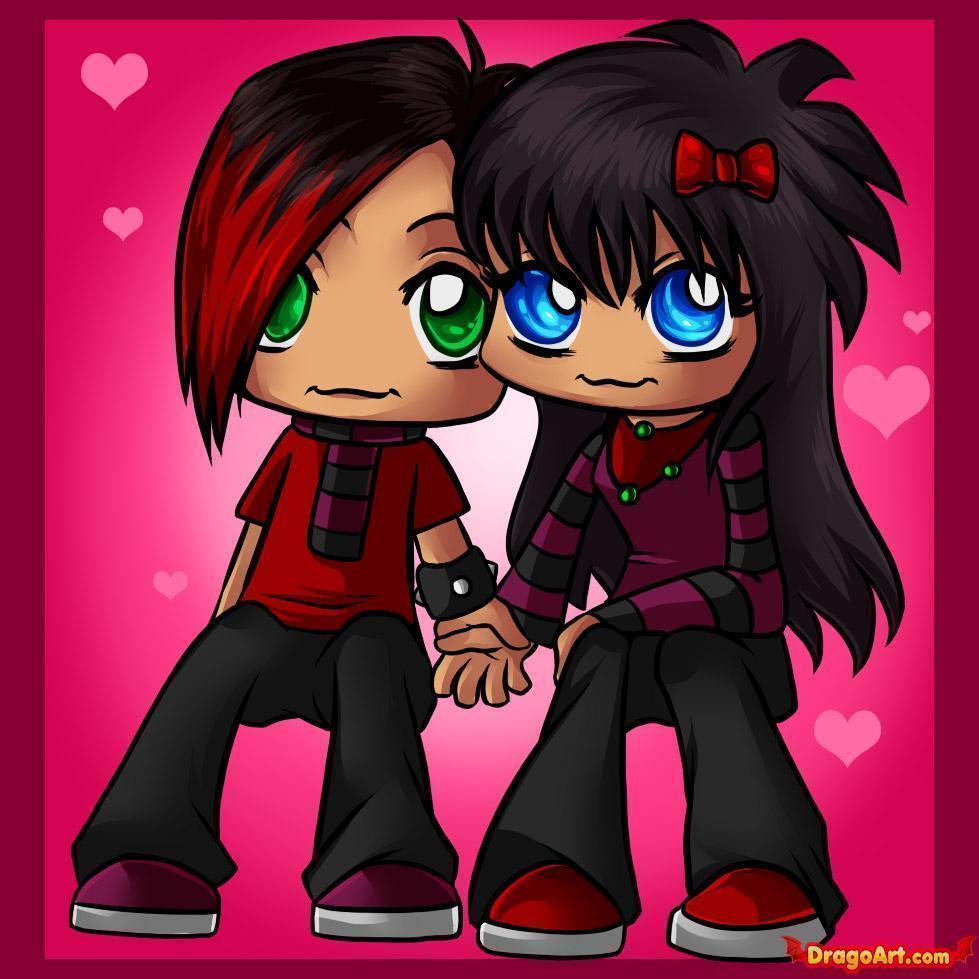6000 Gambar Kartun Romantis Emo Gratis