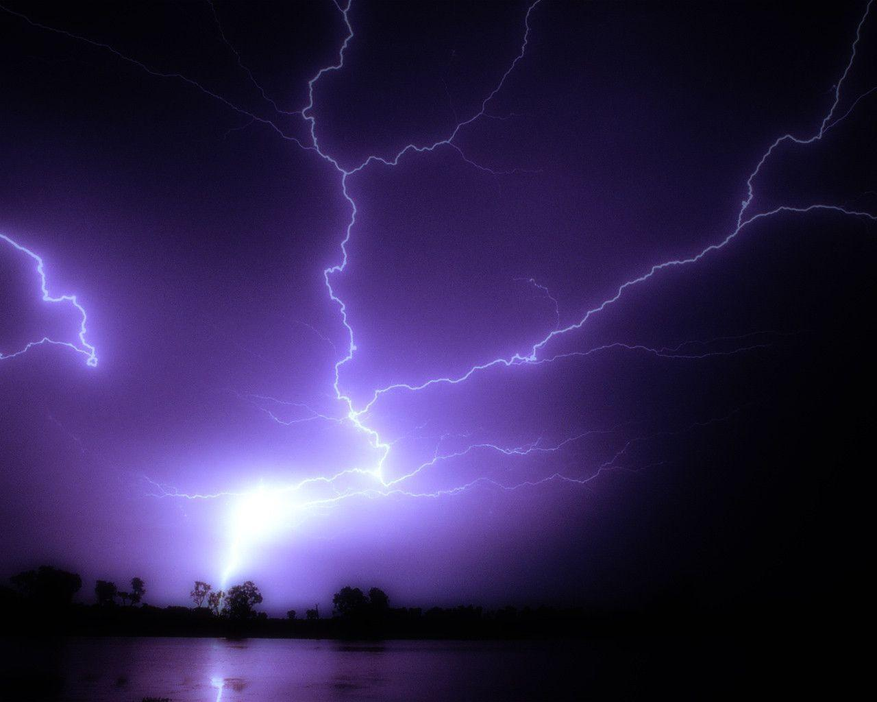 Wallpapers For > Purple Lightning Storm Wallpapers