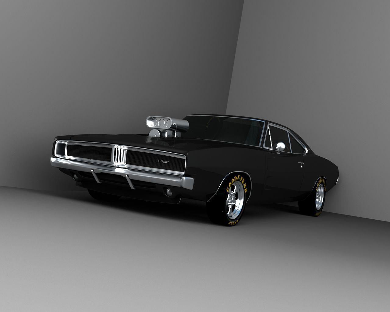 Vehicles For > Black Dodge Charger 1969 Wallpaper