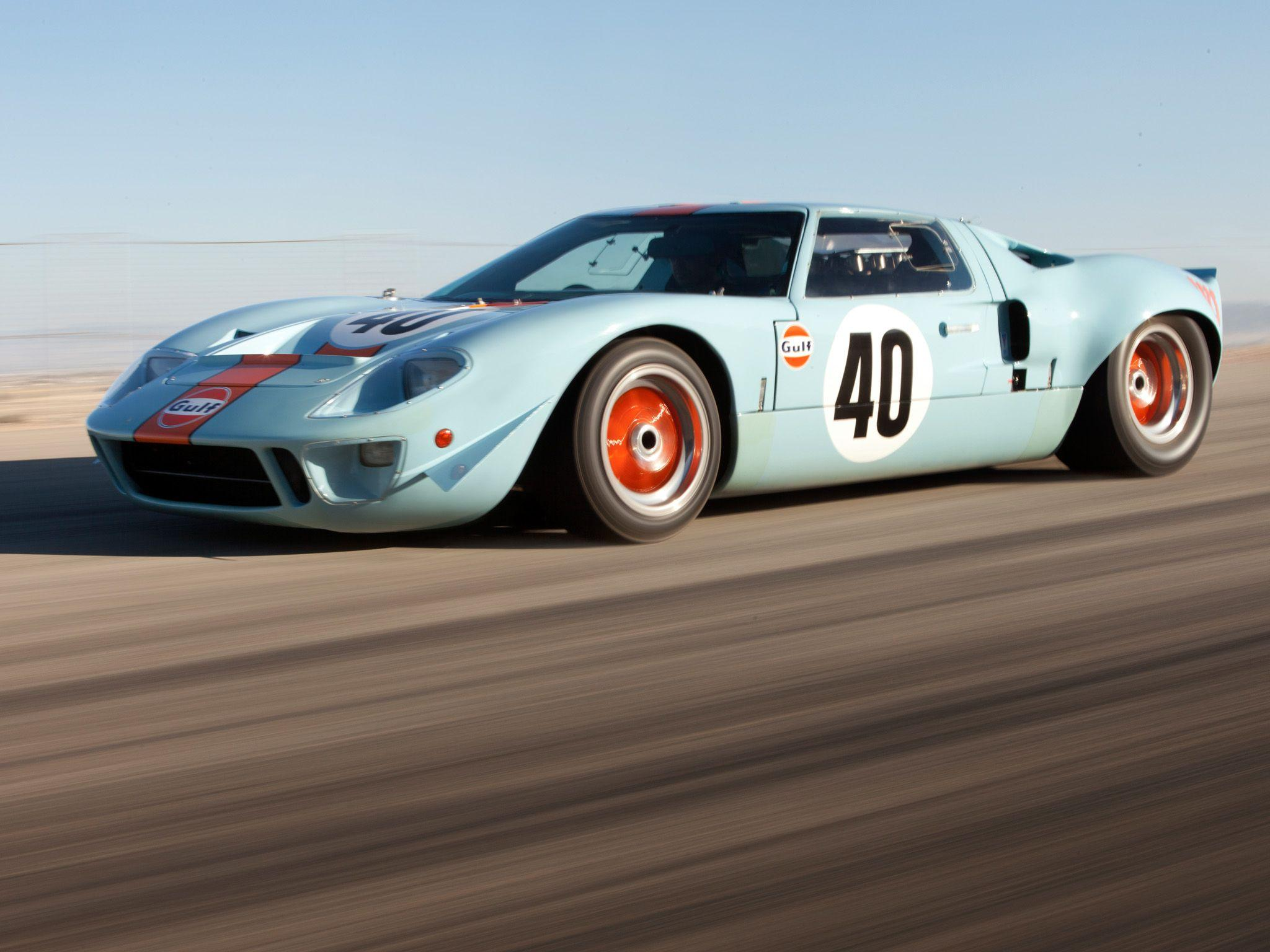 1968 ford gt40 gulf oil le mans race racing supercar classic e