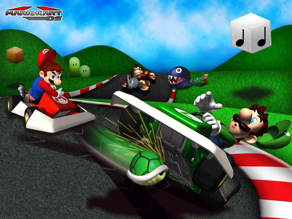 mario kart central mario kart ds wallpaper