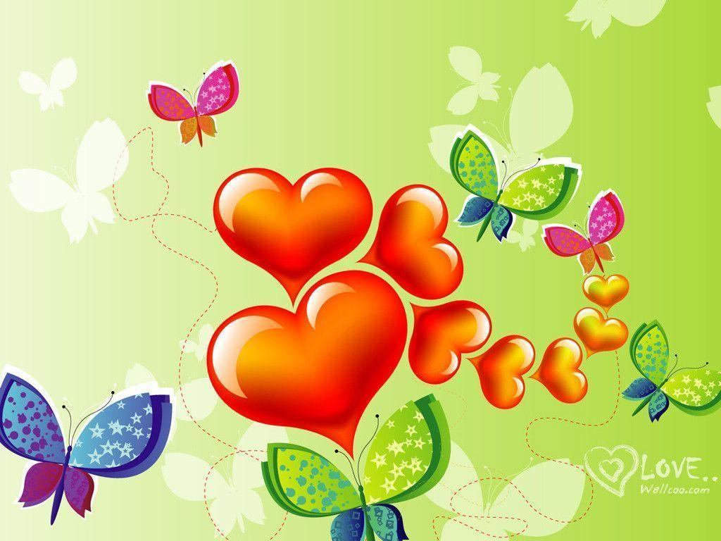 colorful cartoon Love Wallpaper : colorful Hearts Wallpapers - Wallpaper cave