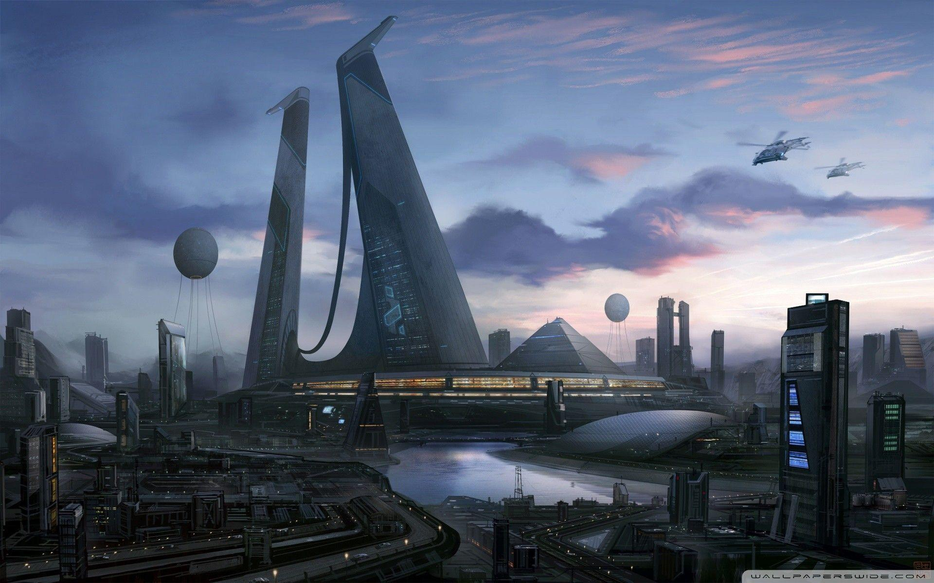 Futuristic Cities wallpapers