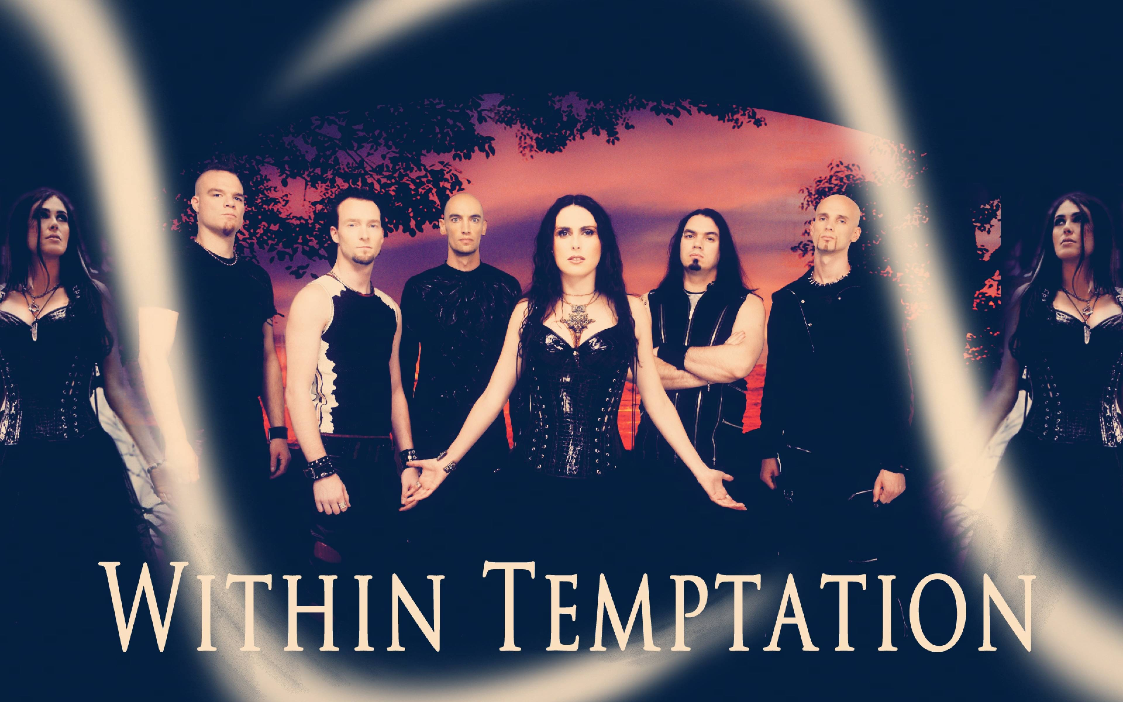 Download Wallpapers 3840x2400 within temptation, band, members