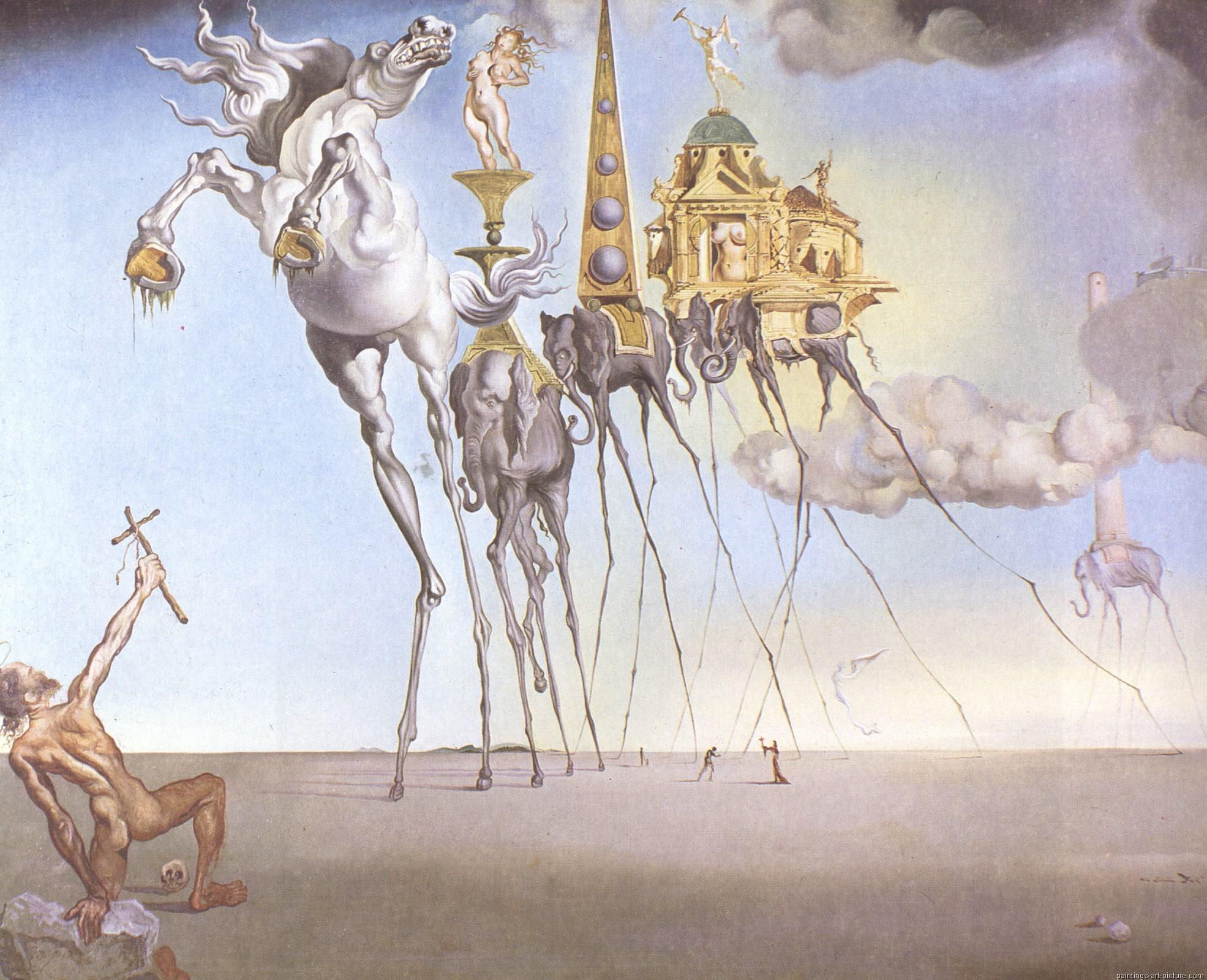Salvador Dali surrealistic paintings HD Wallpapers & Backgrounds
