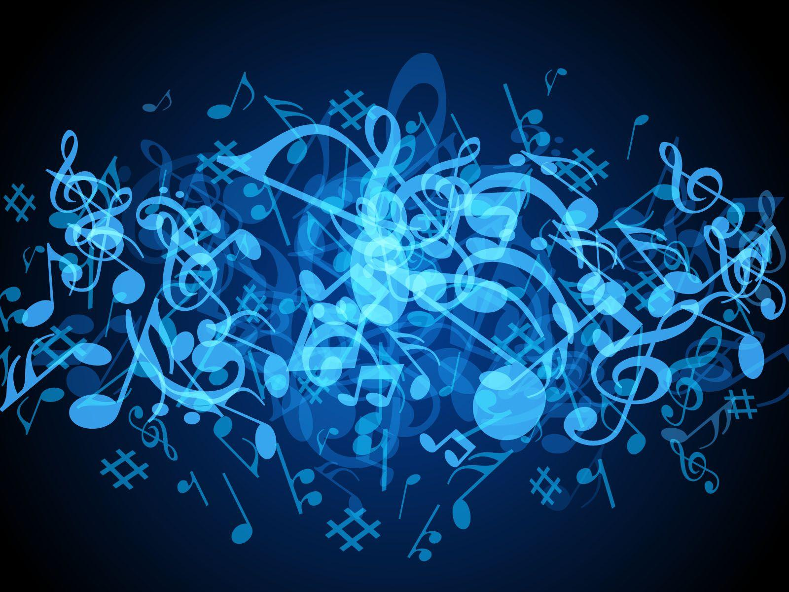 Music Notes Backgrounds: Blue Music Wallpapers