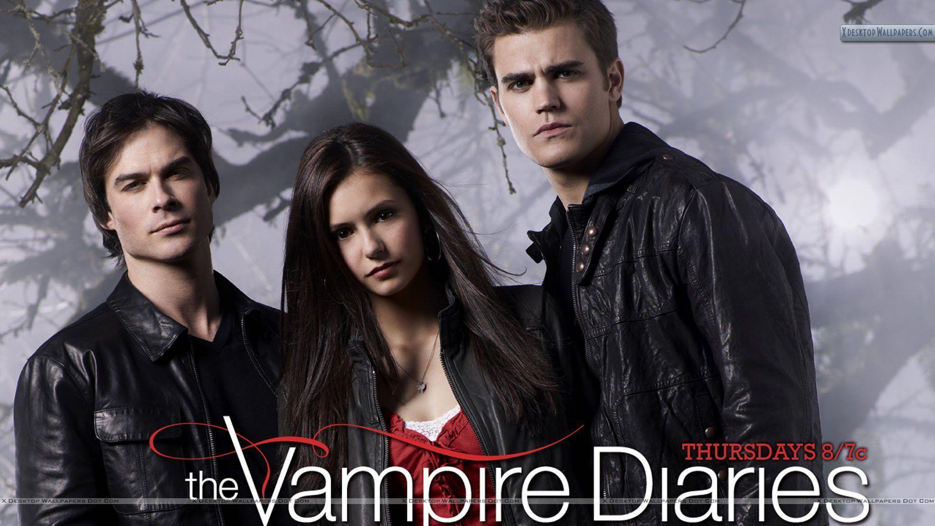 Vampire Diaries Elena Stefan Damon wallpaper - 224216