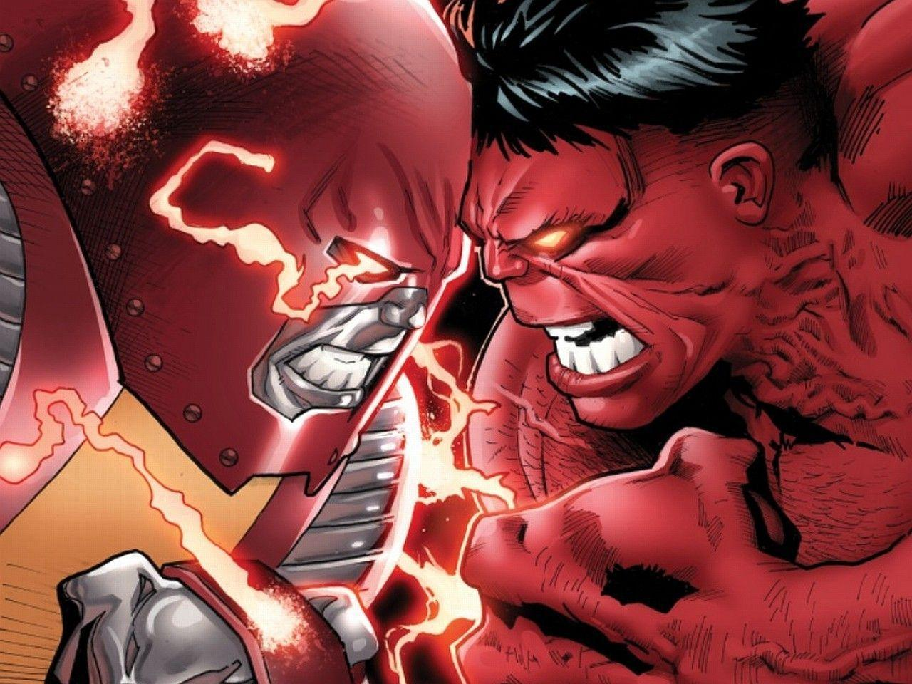 The Image of Comics Marvel Comics Red Hulk Cyclops HD Wallpapers
