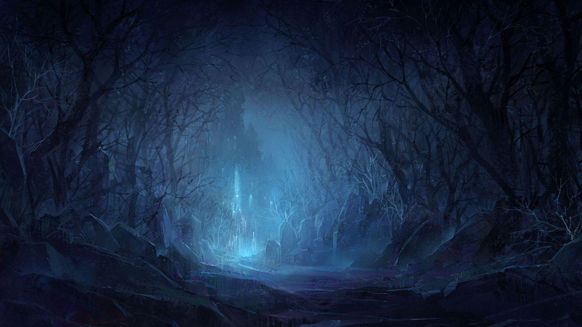 Dark Blue Wallpaper X Wallpapers Dark Forest And Blue Stock Photos X