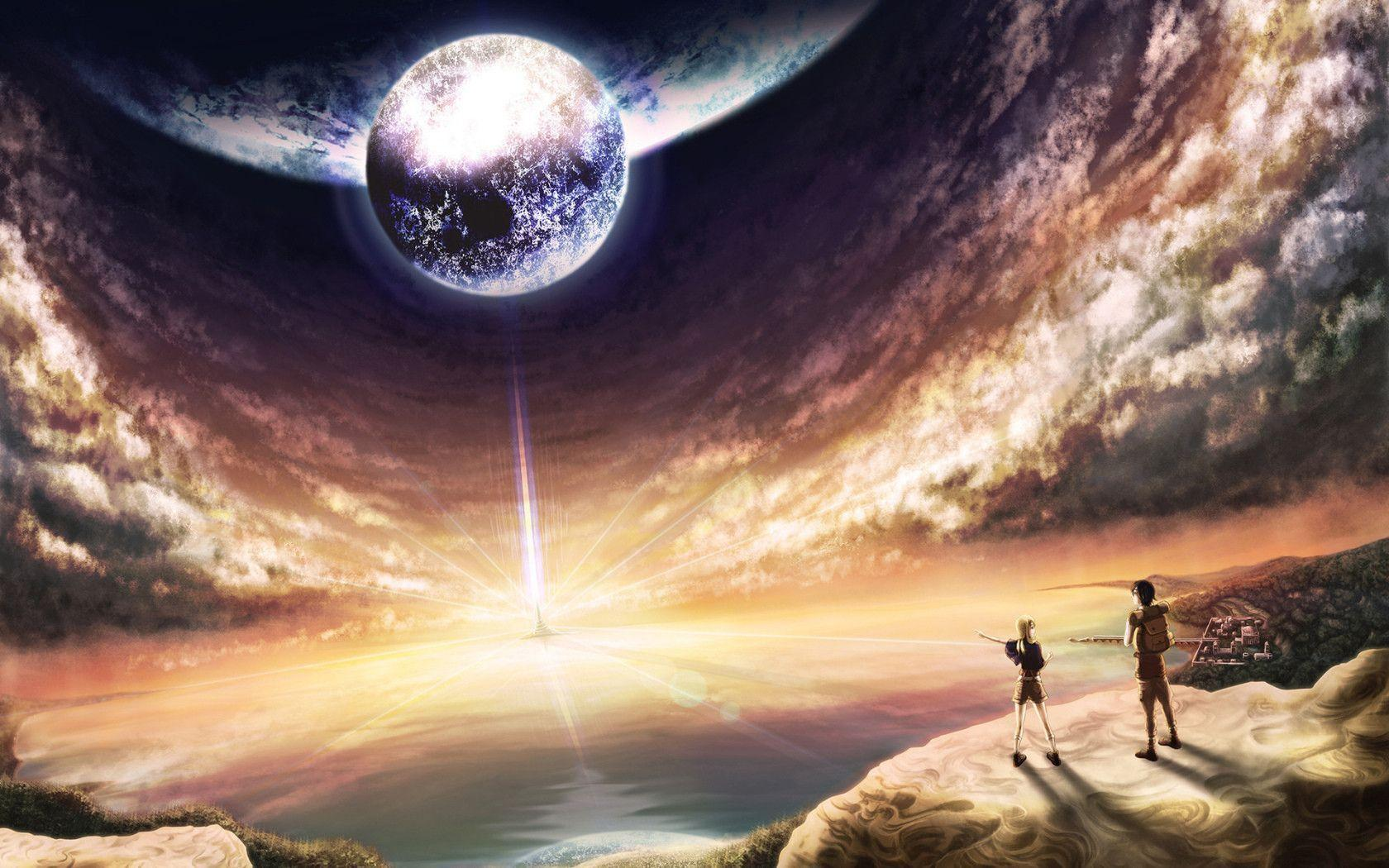Fantasy World Anime Widescreen Wallpaper Wide