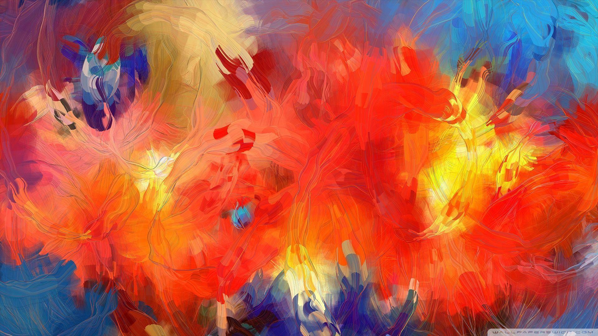 abstract christmas painting wallpaper - photo #7