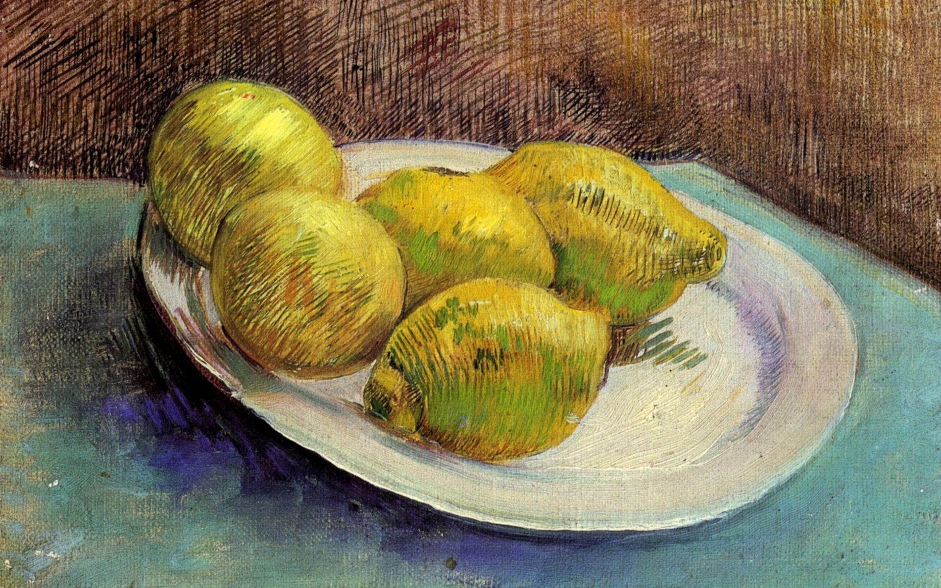 Vincent Van Gogh Wallpaper, Still Life With Lemons On A Plate