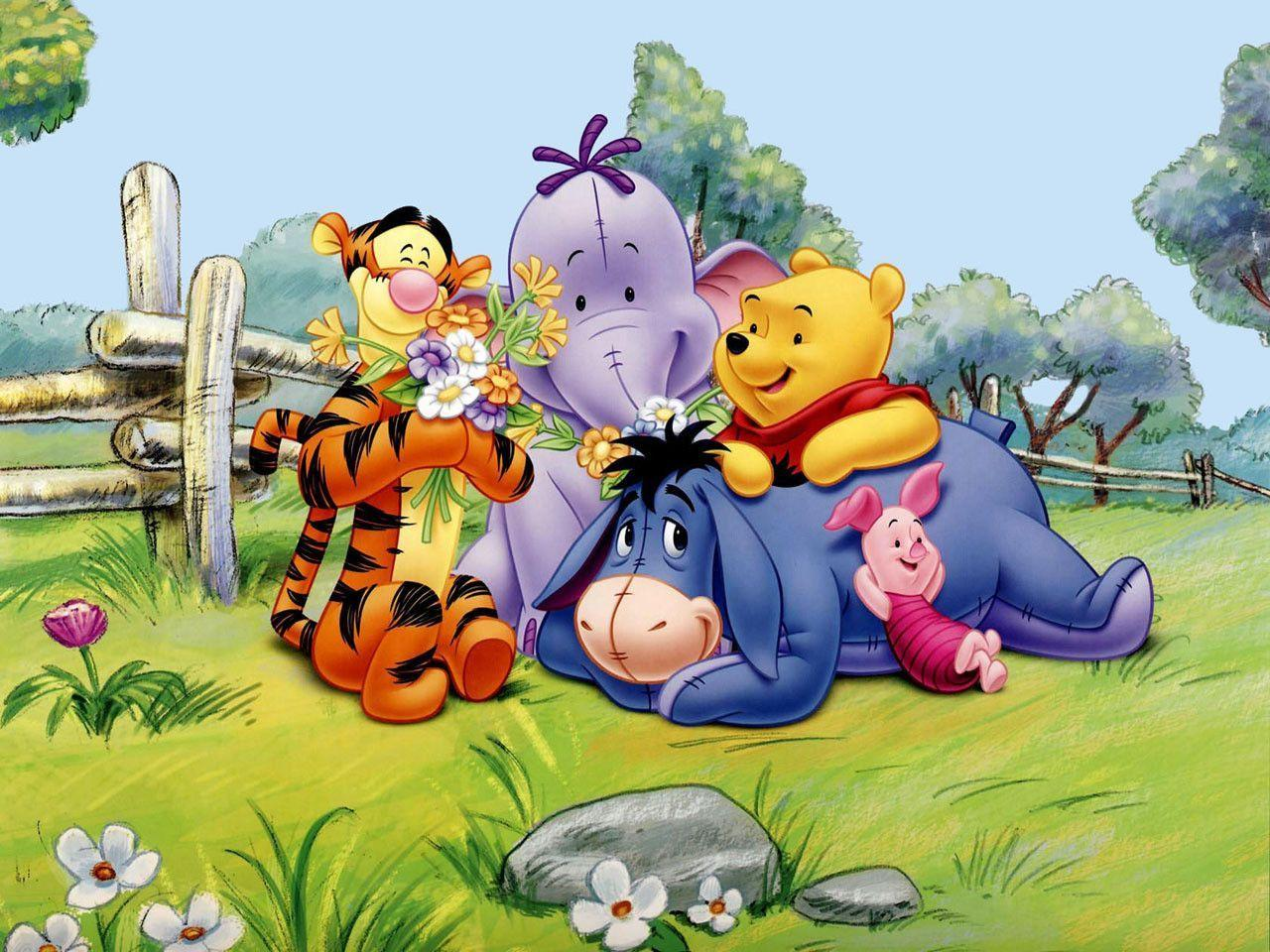 Winnie The Pooh Forest Background: Winnie The Pooh And Friends Wallpapers