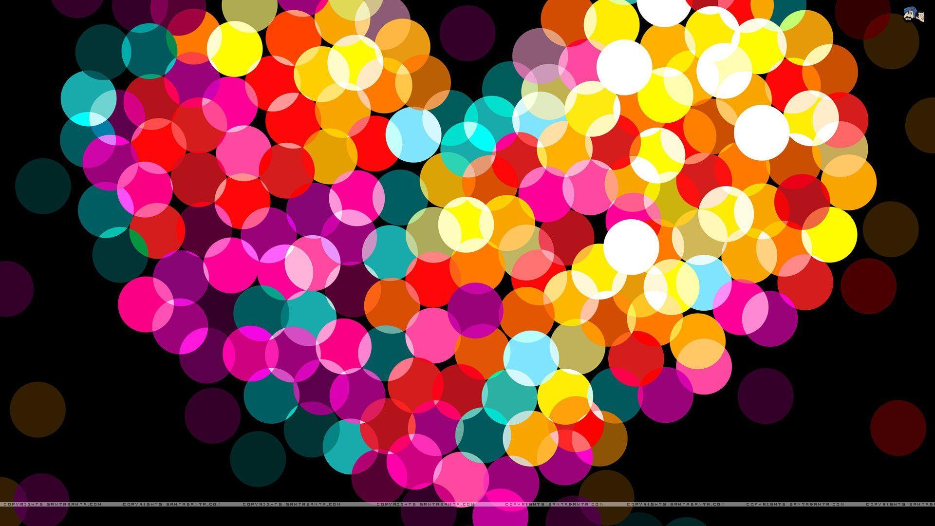cool 3d colorful wallpaper love - photo #6